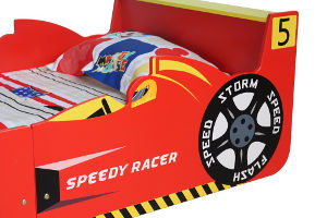 mcc racing car toddler bed headboard