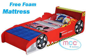 mcc racing car toddler bed
