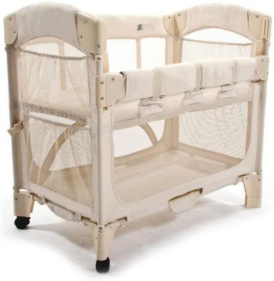 Arms Reach mini co sleeper bassinet side down