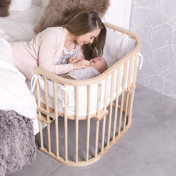 Babybay bedside sleeper cot set up