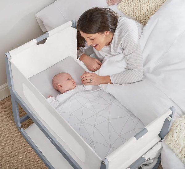 SnuzPod bedside crib set up