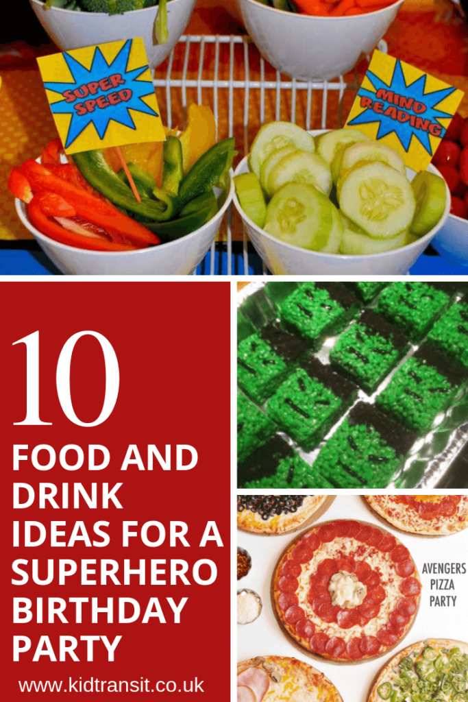 10 party food and drink ideas for a superhero theme first birthday party