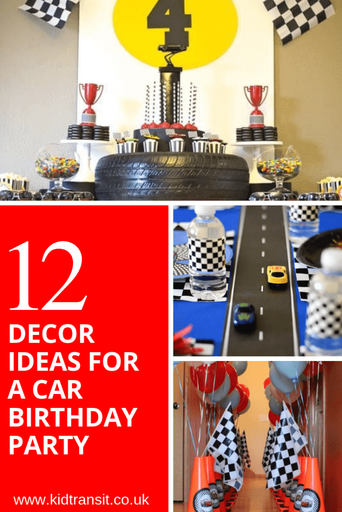 12 party decor ideas for a car theme first birthday party
