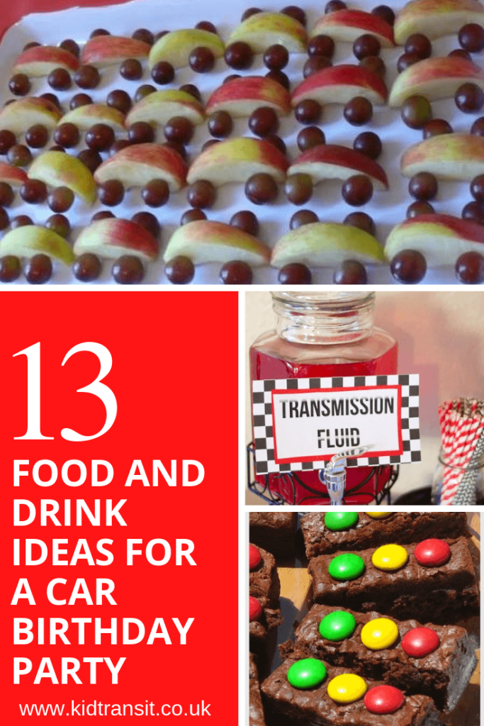 13 party food and drink ideas for a car theme first birthday party