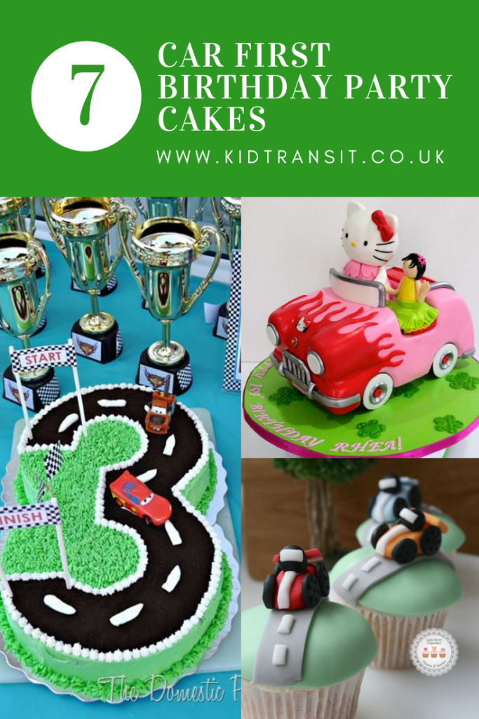 7 car theme birthday cakes for a first birthday party