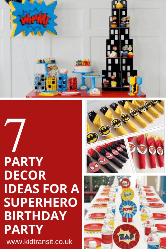 7 party decor ideas for a superhero theme first birthday party