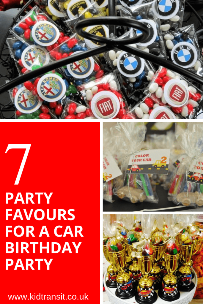 7 party favour ideas for a car theme first birthday party