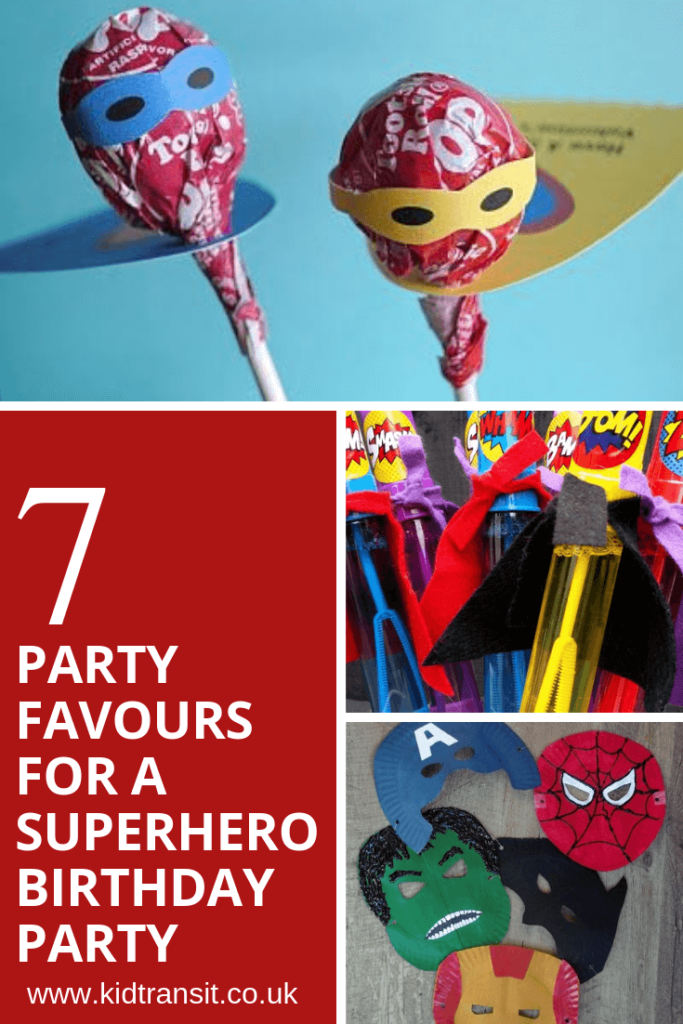 7 party favours for a superhero theme first birthday party