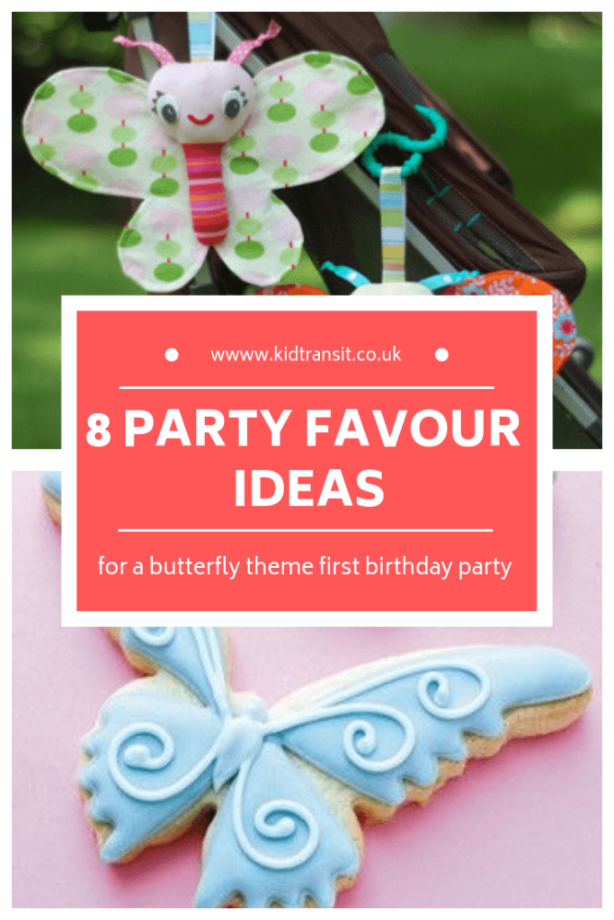 8 birthday party favours for a butterfly theme first birthday party