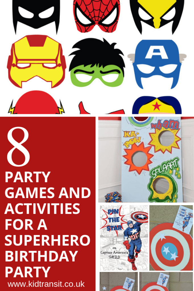 8 party games and activities for a superhero theme first birthday party