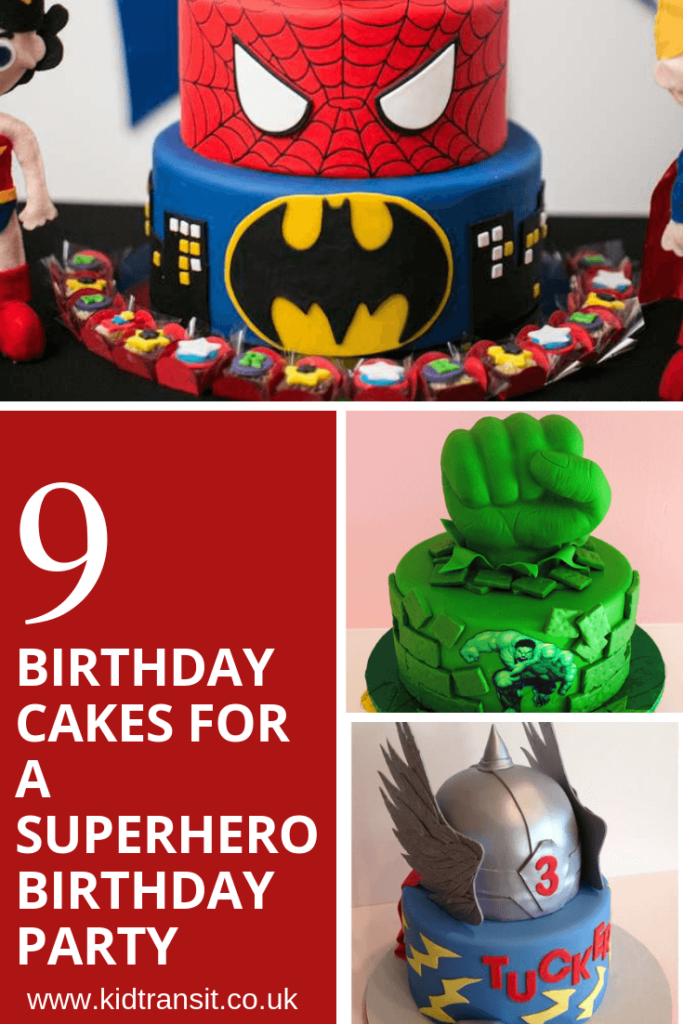 9 birthday cakes for a superhero theme first birthday party