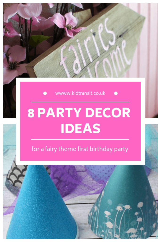 Birthday party decor ideas for a fairy theme first birthday party