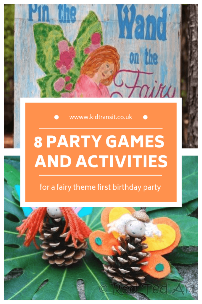 Birthday party games and activities for a fairy theme first birthday party