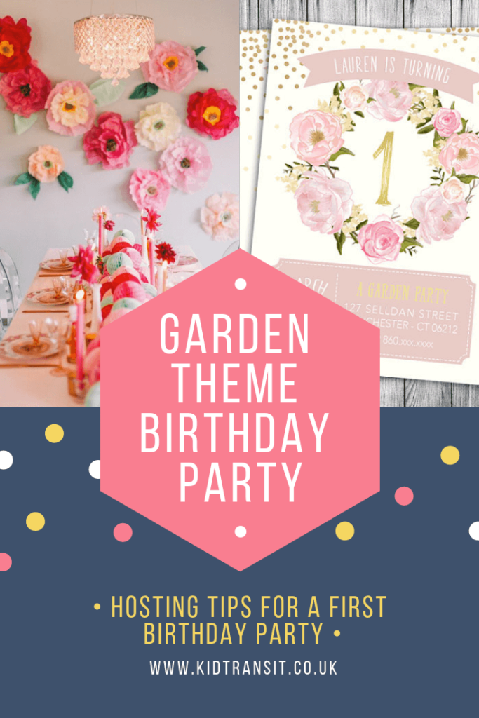 Great ideas for hosting a garden theme first birthday party