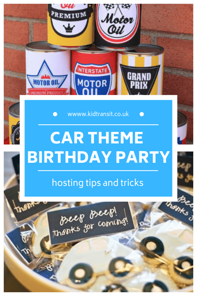 How to host a car theme first birthday party