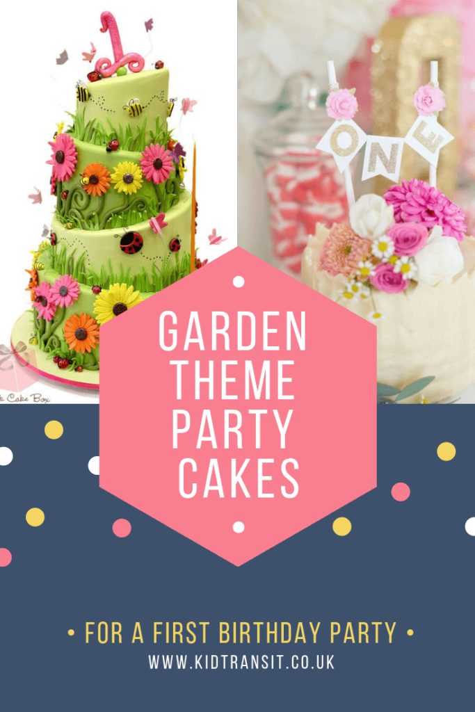 Party birthday cake ideas for a flower garden theme first birthday party