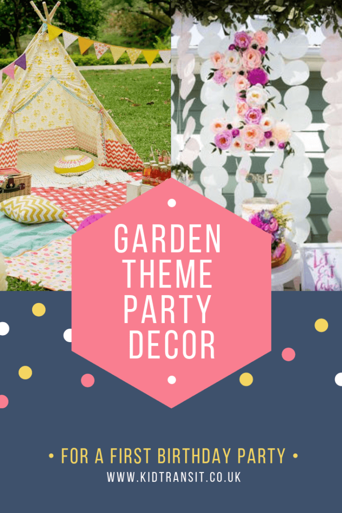 Party decor ideas for a flower garden theme first birthday party