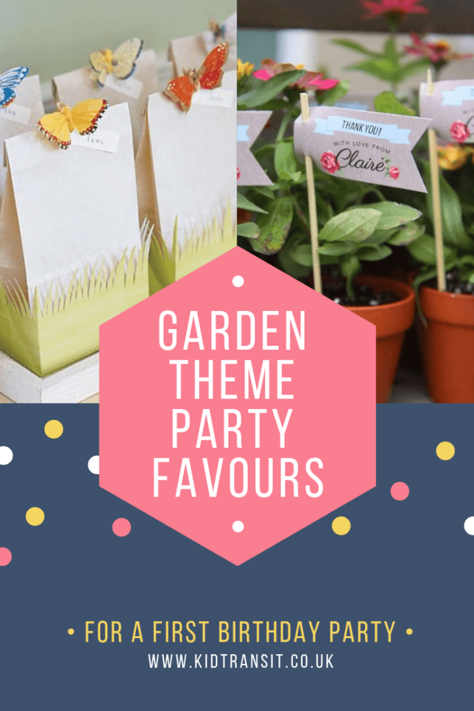 Party favour ideas for a flower garden theme first birthday party