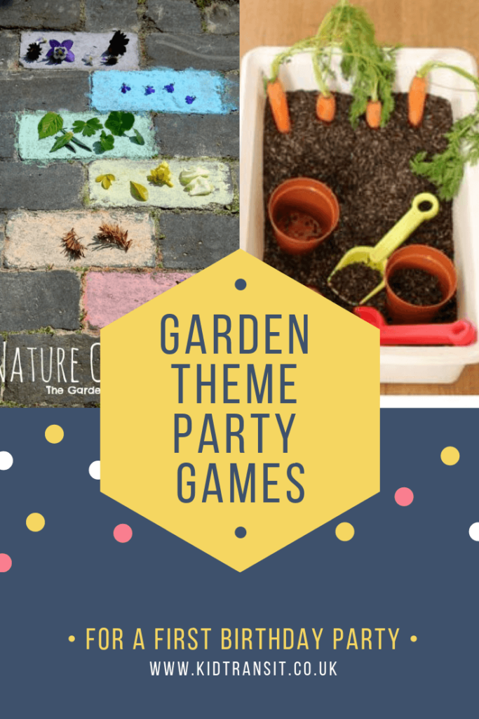 Party games and activities for a flower garden theme first birthday party