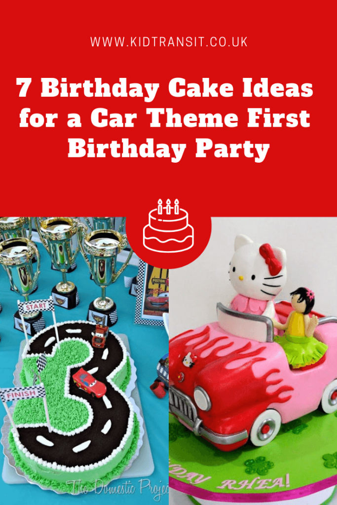 Car Themed First Birthday Cake Ideas Kid Transit