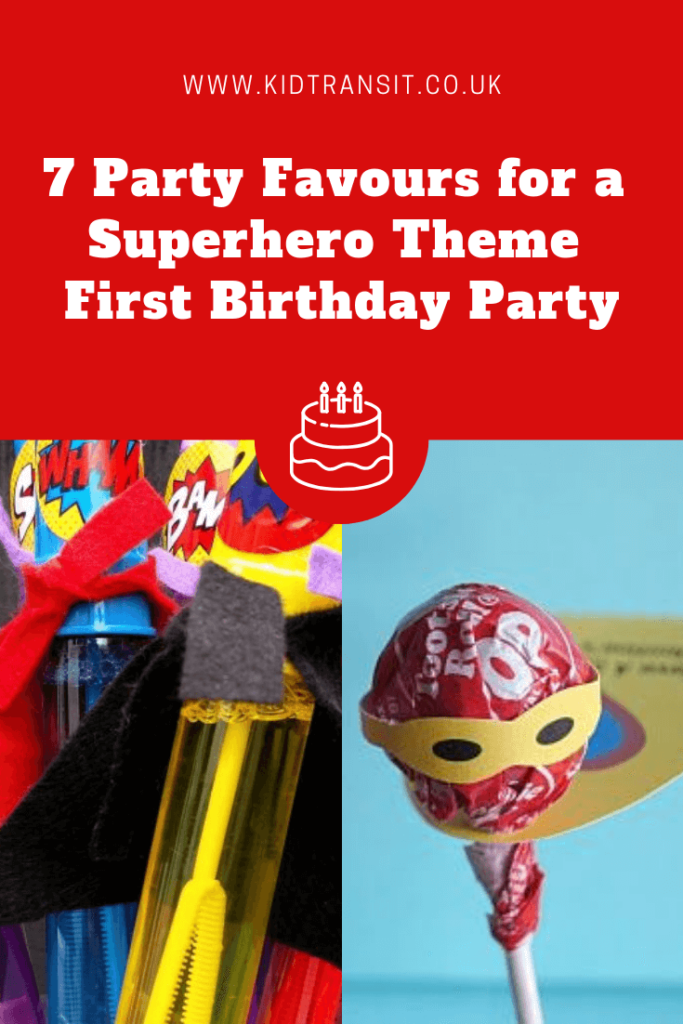 7 great party favour ideas for a superhero theme first birthday party