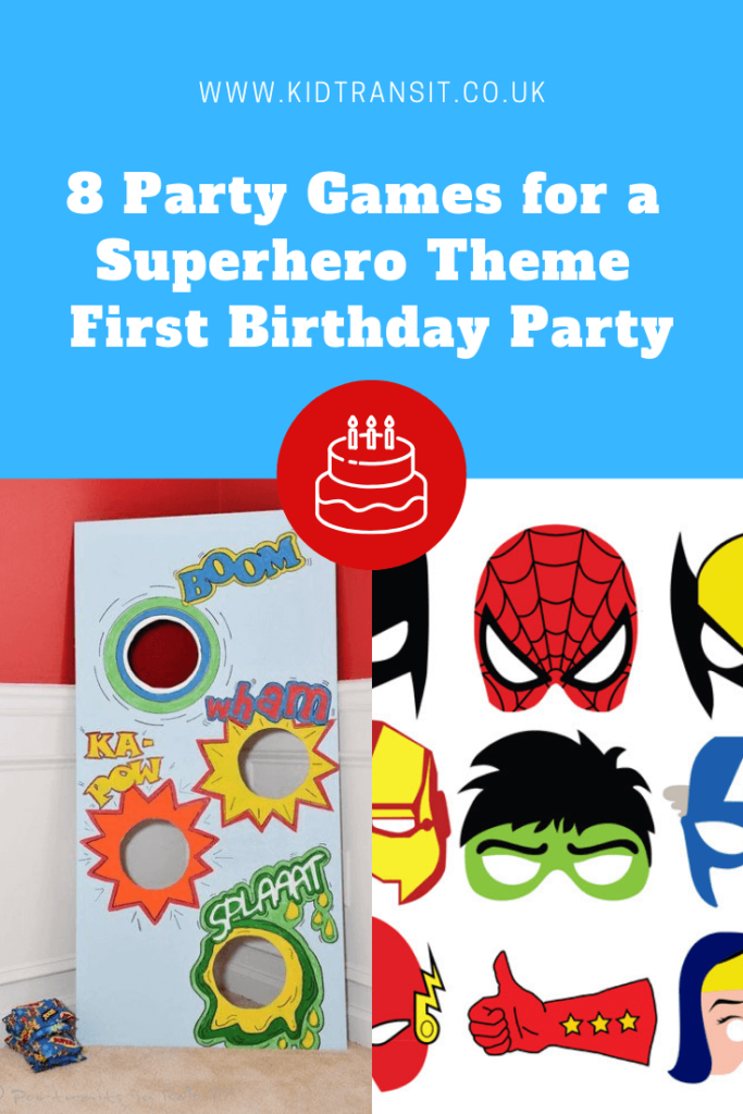 8 great party games for a Superhero theme first birthday party