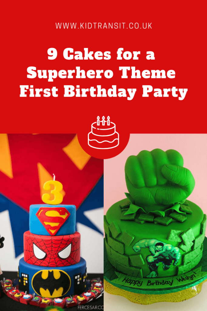 9 great birthday cakes for a superhero theme first birthday party