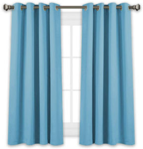 Blackout window curtains