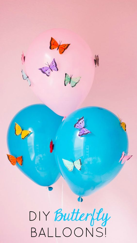 Butterfly First Birthday Party Decor butterfly balloons