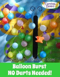 Butterfly first birthday activity balloon burst