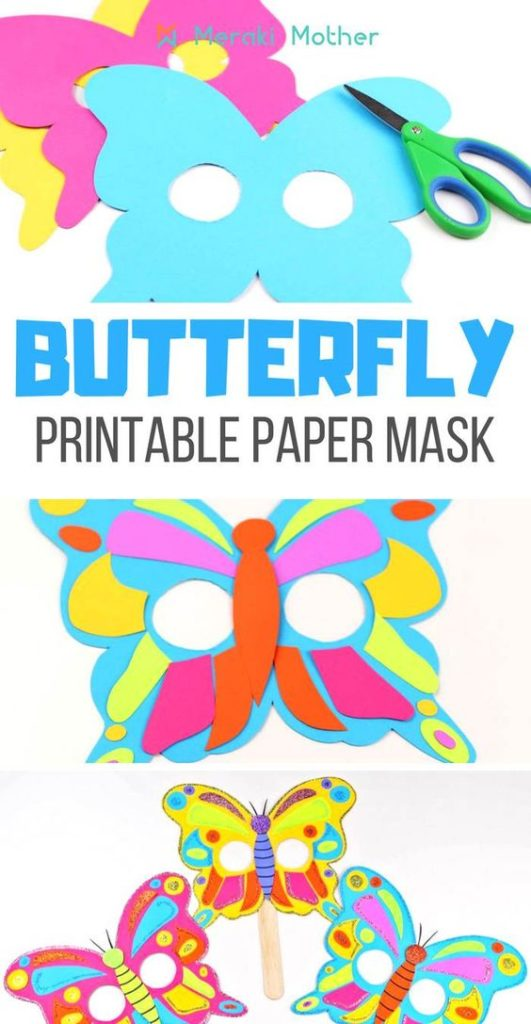 Butterfly first birthday activity mask