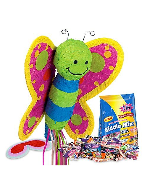 Butterfly first birthday activity pinata