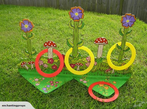 Butterfly first birthday activity ring toss