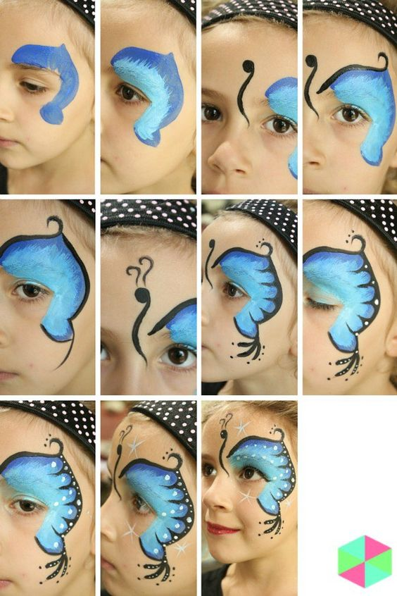 Butterfly first birthday decor idea butterfly face paint