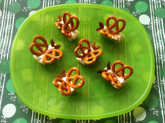 Butterfly first birthday food pretzels