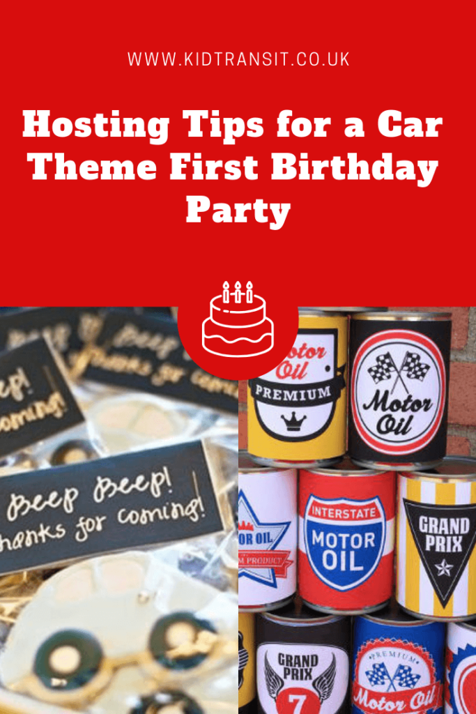 Hosting tips and tricks for a car theme first birthday party