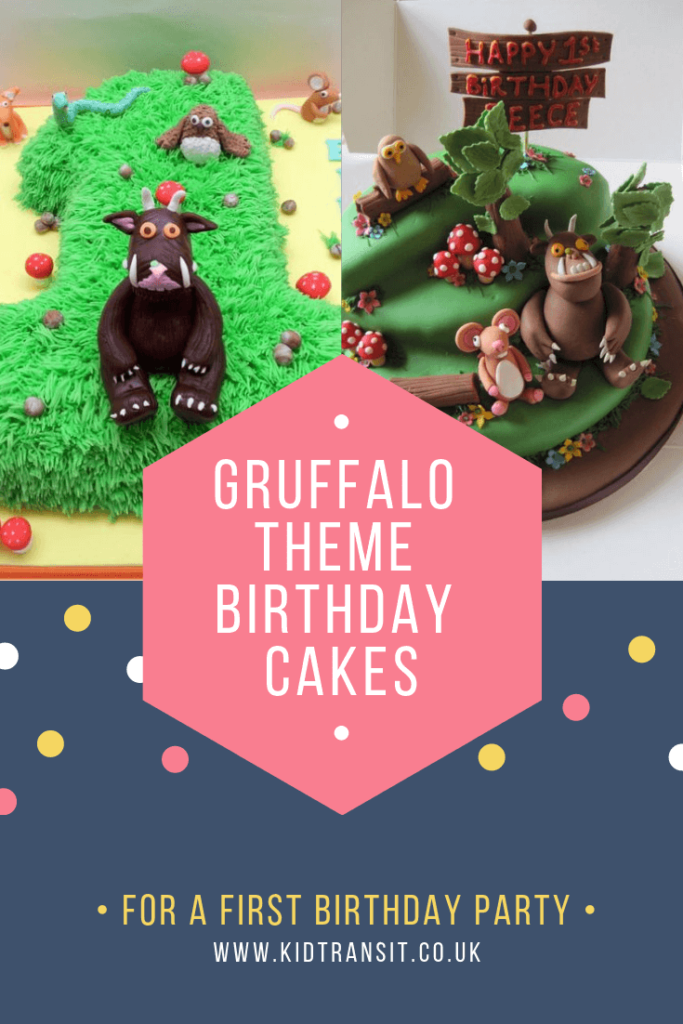 Party birthday cake ideas for a Gruffalo theme first birthday party