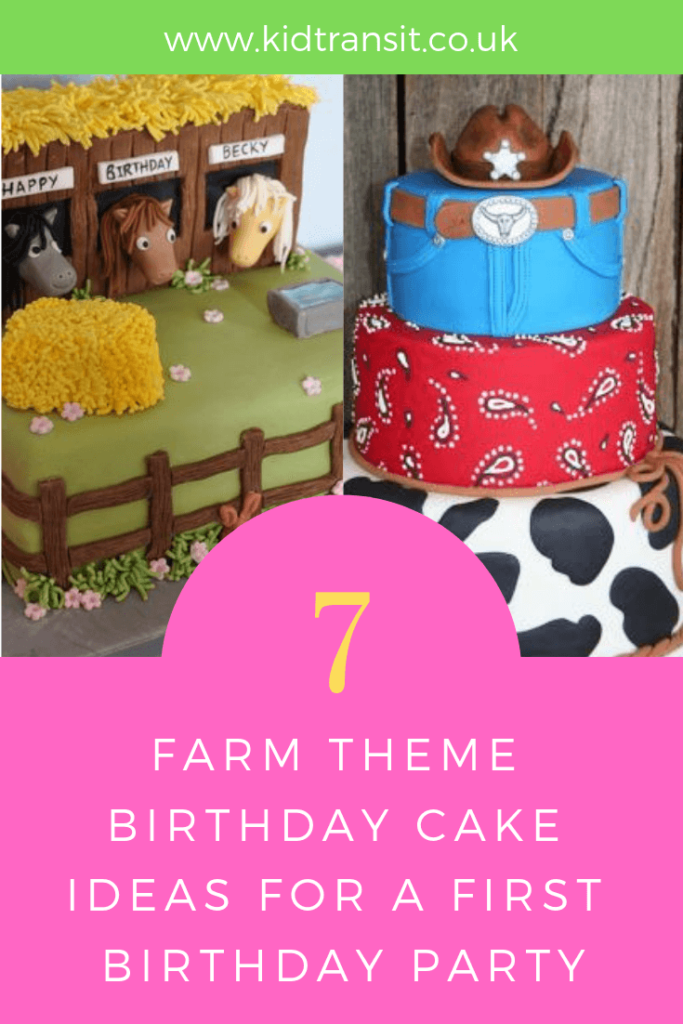 Party cake ideas for a farm theme first birthday party