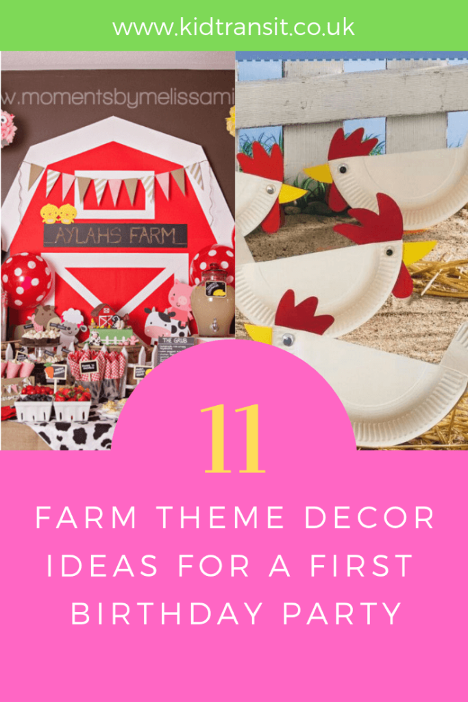 Party decor ideas for a farm theme first birthday party