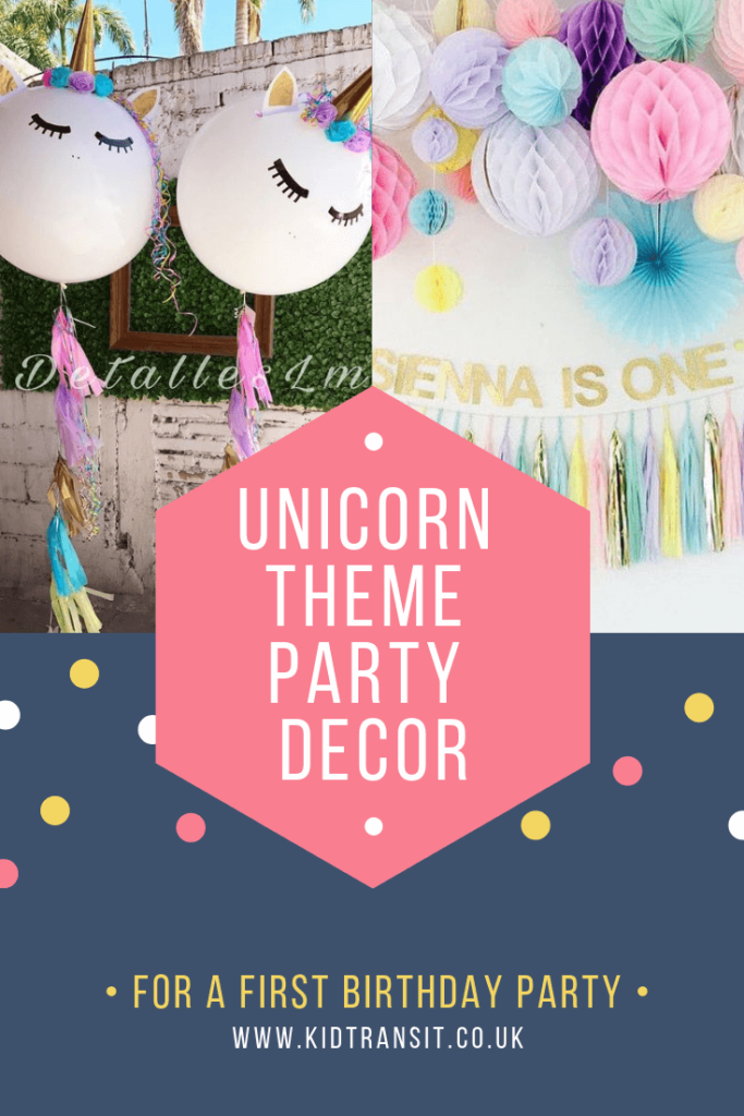 Party decor ideas for a magical unicorn theme first birthday party