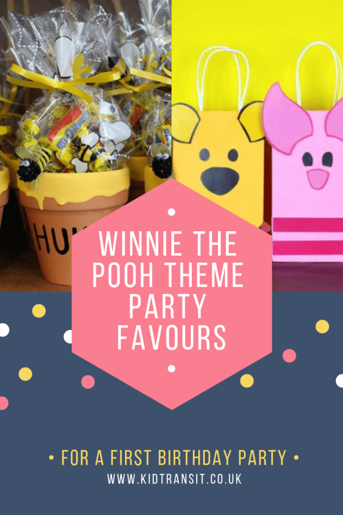 Party favour ideas for a Winnie the Pooh theme first birthday party