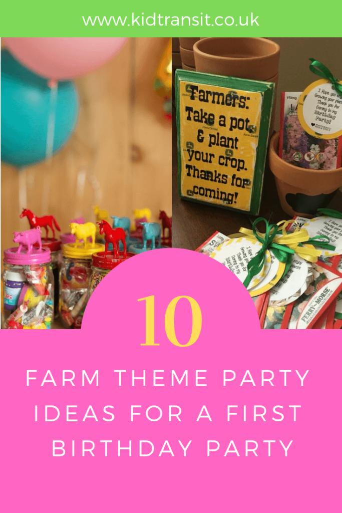 Party favour ideas for a farm theme first birthday party