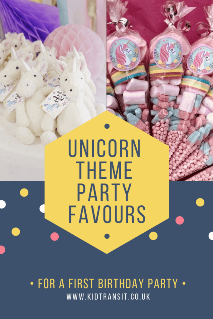 Party favour ideas for a magical unicorn theme first birthday party