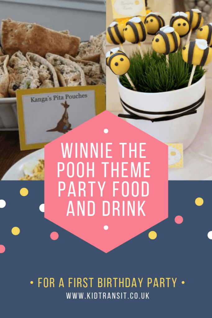 Party food and drink ideas ideas for a Winnie the Pooh theme first birthday party