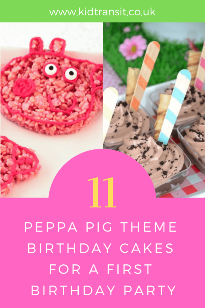 Party food ideas for a Peppa Pig theme first birthday party.