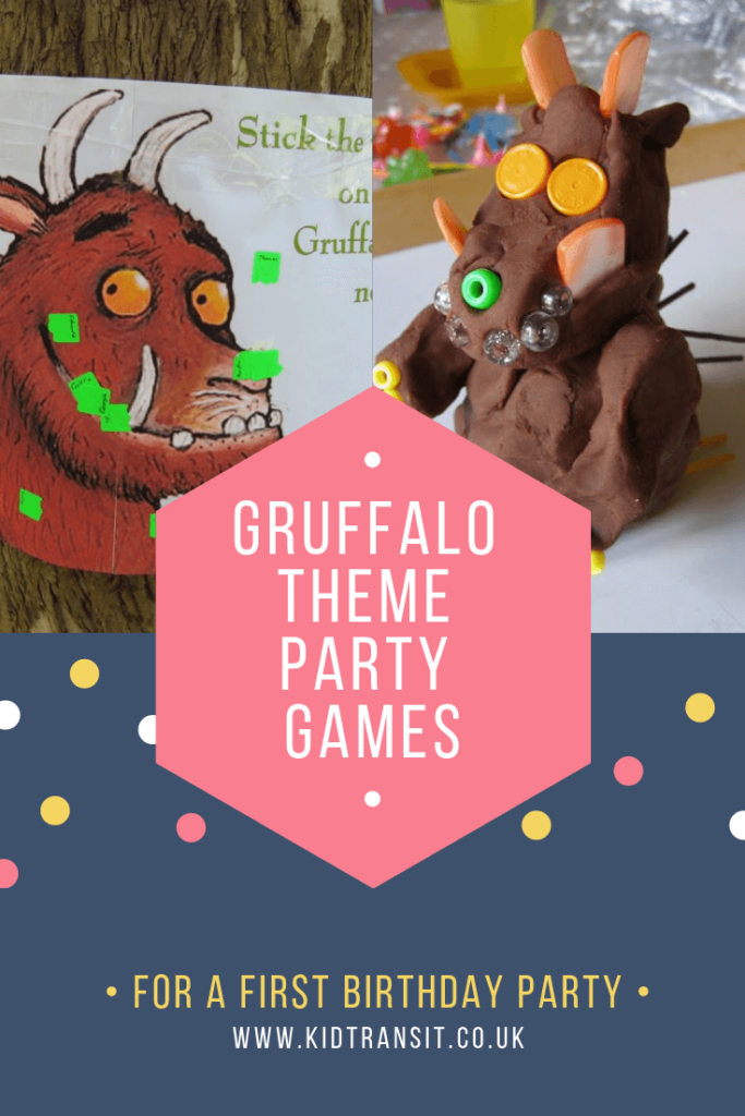 Party game ideas for a Gruffalo theme first birthday party