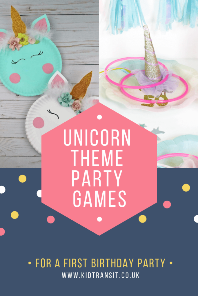 Party game ideas for a magical unicorn theme first birthday party