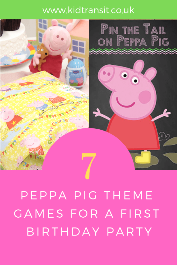 Party games and activities for a Peppa Pig theme first birthday party