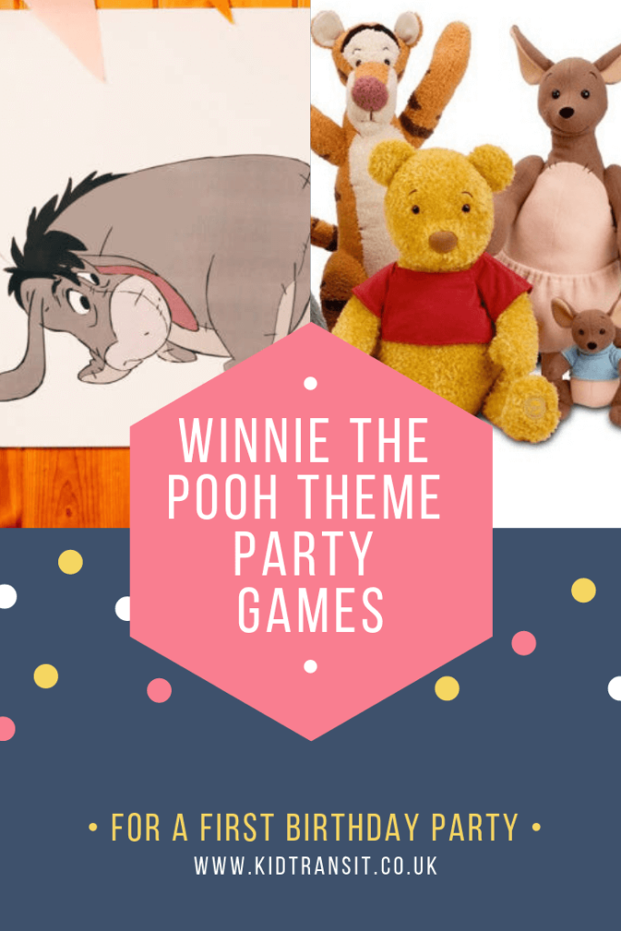 Party games and activities for a Winnie the Pooh theme first birthday party