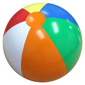 Seaside beach theme beach ball party favours